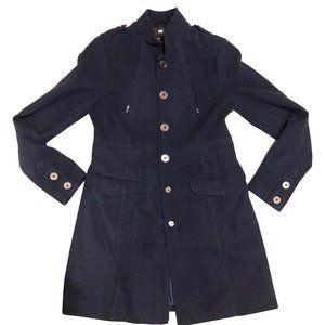 H&M Navy Blue Coat Size 8